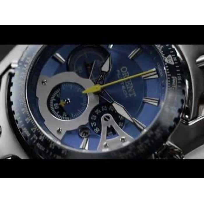 5666f43fac7 Relógio Orient Flytech Titanium Mbttc006 D1sx Fundo Azul